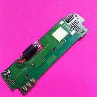 Fly iq255 нижняя плата с микрофоном и компонентами б/у