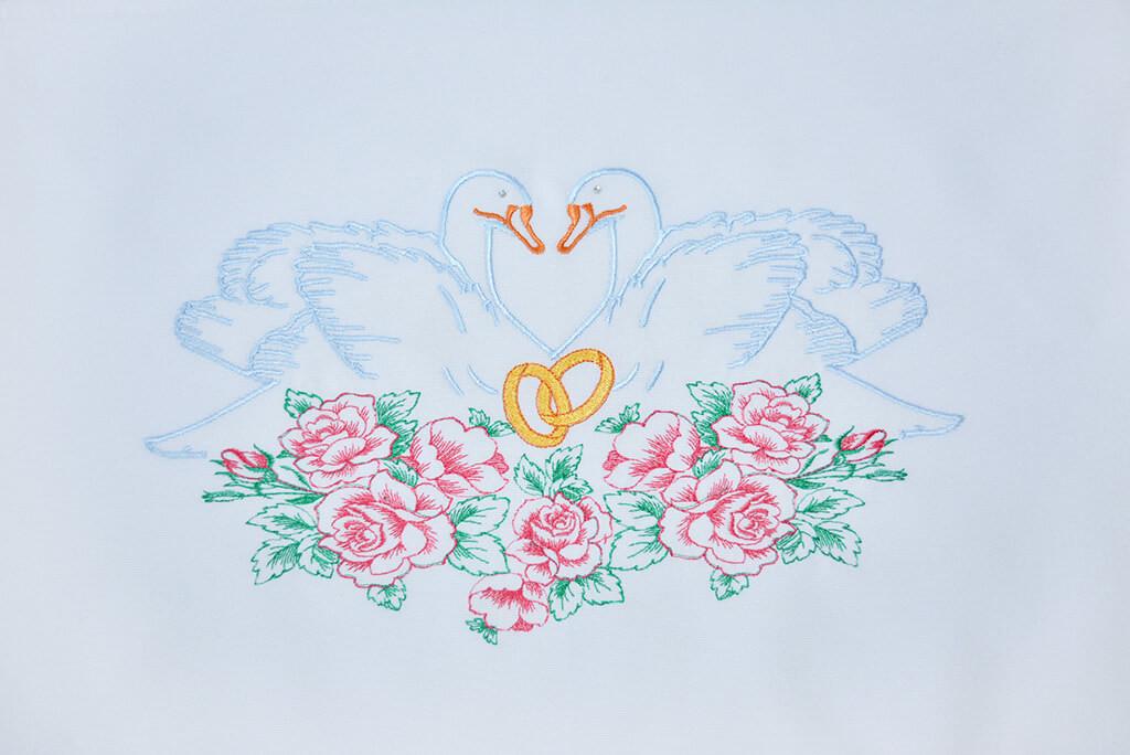Тканый рушник с вышивкой «На щастя, на долю»
