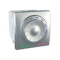 SСHNEIDER ELECTRIC UNICA Терморегулятор для теплого пола с датчиком в комплекте 10А Алюминий