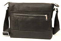 Кожаная мужская сумка Tom Stone 407 черная