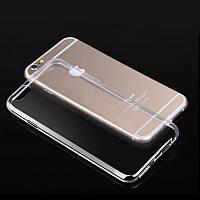 Силиконовый чехол (силиконовая накладка, бампер) Ultra-thin на IPhone 5/5s/SE Clean Grid Transparent