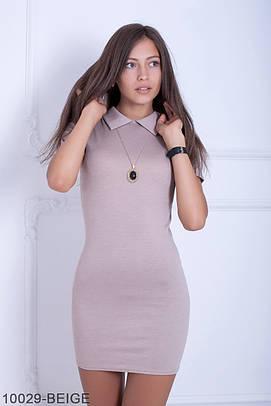 Стильне бежеве класичне плаття Lissa