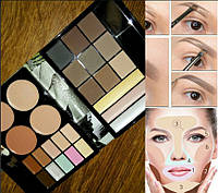 Набор для макияжа № 6 MAX MAR консиллер хайлайтер тени для бровей