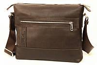 Кожаная мужская сумка Tom Stone 407 коричневая