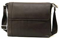 Кожаная мужская сумка Tom Stone 408 черная