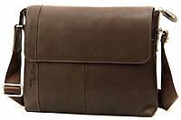 Кожаная мужская сумка Tom Stone 408 коричневая