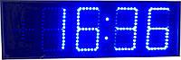 Часы термометр светодиодные синие яркие