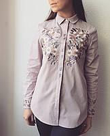 Жіноча сорочка Цвіт бузкова