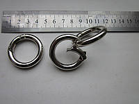 Кольцо - карабин 25 х 6 мм никель