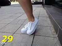 Женские стильные белые кеды на высокой платформе, 40 р