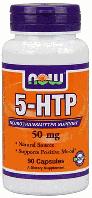 5-ХТП, Гидрокситриптофан, Now Foods, 5-HTP, 50 mg, 90 Caps