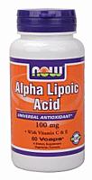 Альфа липоевая кислота, Alpha Lipoic Acid 100 mg (60 caps)