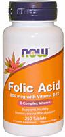 Фолиевая кислота, Folic Acid 800 mkg (250 tabs)