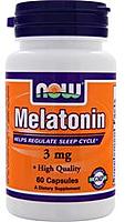 Мелатонин, Melatonin 3 mg (60 caps)