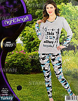 Женская домашняя одежда из Турции Night Angel 2823 L/XL. Размер 46-48.