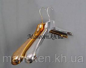 Вешалка сшироким плечом 47-6 металлизированная