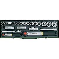 """Автомобильный набор торцових головок с трещотками Proxxon 1/4"""" и 1/2"""", 6-32 мм, 27 позиций"""