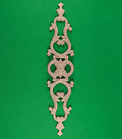 Код ДВ8. Деревянный резной декор для мебели. Декор вертикальный, фото 1