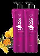 Кератин FOX GLOSS для Выпрямления и реконструкции всех типов волос НАБОР / 1000 мл*2