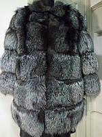 Полушубок из чернобурки поперечка.рукав 7/8 длина 80см  рукава съемные трансформер  46р-48р