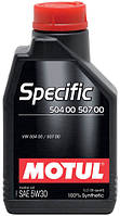 Моторное масло Motul SPECIFIC 504 00 - 507 00 5W-30, 1L