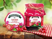Варенье-конфитюр из кизила в сиропе с лепестками роз - 310г