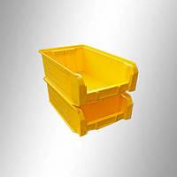 Пластиковый складской ящик 350х210х150 мм (желтый)