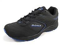 Кроссовки мужские BONA  кожаные, черные (Бона)р.41,42