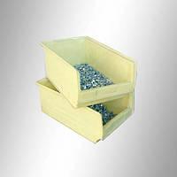 Пластиковый складской ящик 350х210х150 мм (светло желтый)