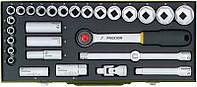 """Набор торцевых головок с трещоткой Proxxon 1/2"""", 8-34 мм, 29 позиций"""
