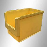 Пластиковый складской ящик 500х300х300 мм (желтый)