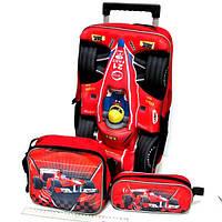 Чемодан-рюкзак детский на колесах Гонка, 14112T