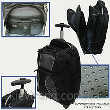 Валіза-рюкзак на 4 колесах Black, 8809 (8009)