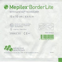 Molnlycke Mepilex Border Lite самоклеющаяся сорбционная повязка стерильная 10 х 10 см