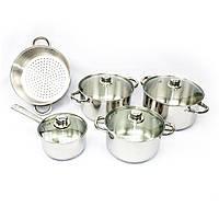 Набор посуды Giakoma 9 предметов пароварка