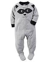 Пижама-человечек флис для мальчиков 2, 3, 4, 5 лет Raccoon appliqué Carter's (США)