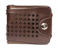 Оригінальний чоловічий коричневий гаманець (54219)