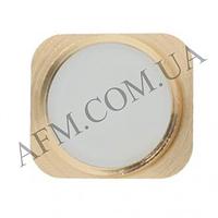 Накладка на кнопку (Home) для iPhone 5 в стиле iPhone 5S золотая
