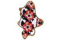 Набор для вышивки бисером Магнит Карта Украины Донецкая область AMK-005