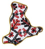 Набор для вышивки бисером Магнит Карта Украины Киевская область AMK-010