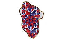 Набор для вышивки бисером Магнит Карта Украины Луганская область AMK-012