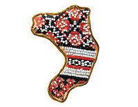 Набор для вышивки бисером Магнит Карта Украины Ровенская область AMK-017