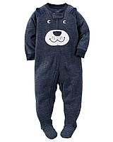 Пижама-человечек флис для мальчиков 2, 3, 4, 5 лет Bear appliqué Carter's (США)