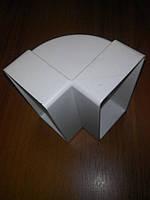 Колено вертикальное пластиковое прямоугольное 55х110