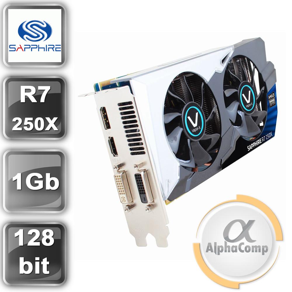Видеокарта PCI-E ATI Sapphire R7 250X (1Gb/GDDR5/256bit/HDMI/DVI/DP) БУ