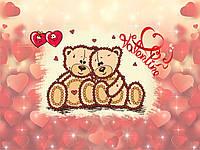 """Схема для вышивки бисером """"Valentine"""", набор-магнит 8,5х13,5 см"""