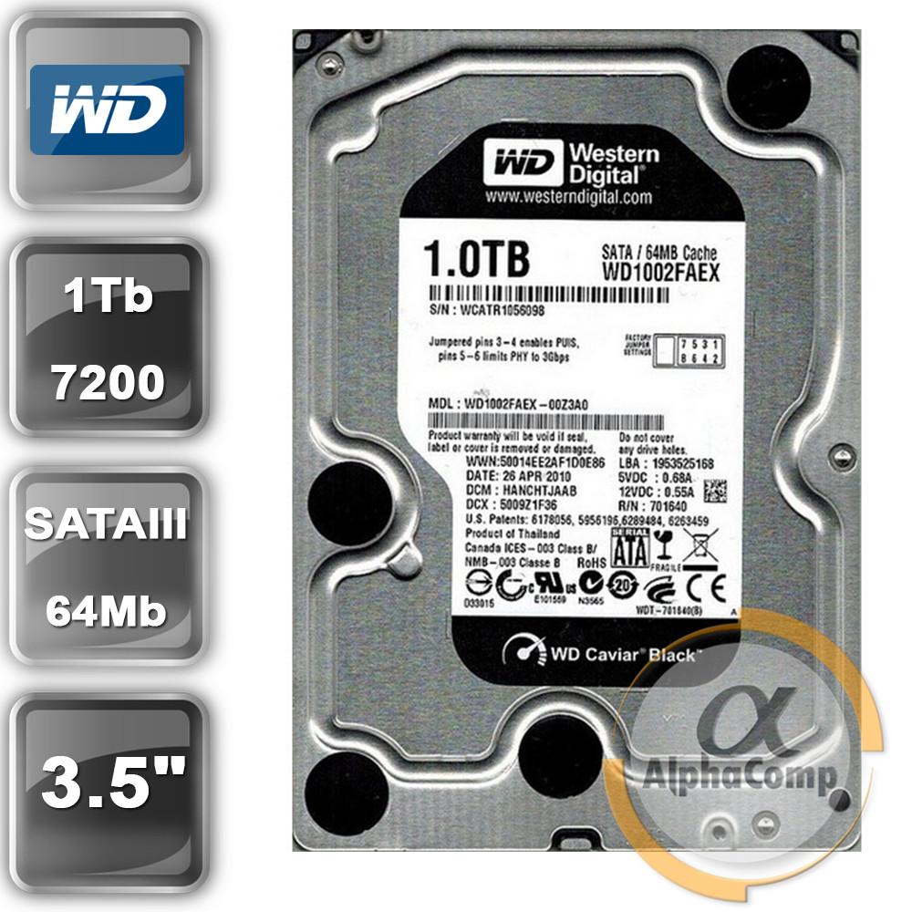 "Жесткий диск 3.5"" 1Tb WD WD1002FAEX (64Mb/7200/SATAII) black БУ"