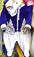 Новогодний человечек для малыша с оленями