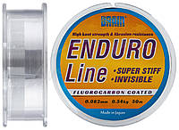 Леска Brain Enduro 50 m 0,082 mm #0.25, 0.54 kg, 1.2 lb, ц.: smoke