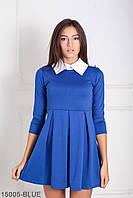 Жіноче синє офісне плаття Olis